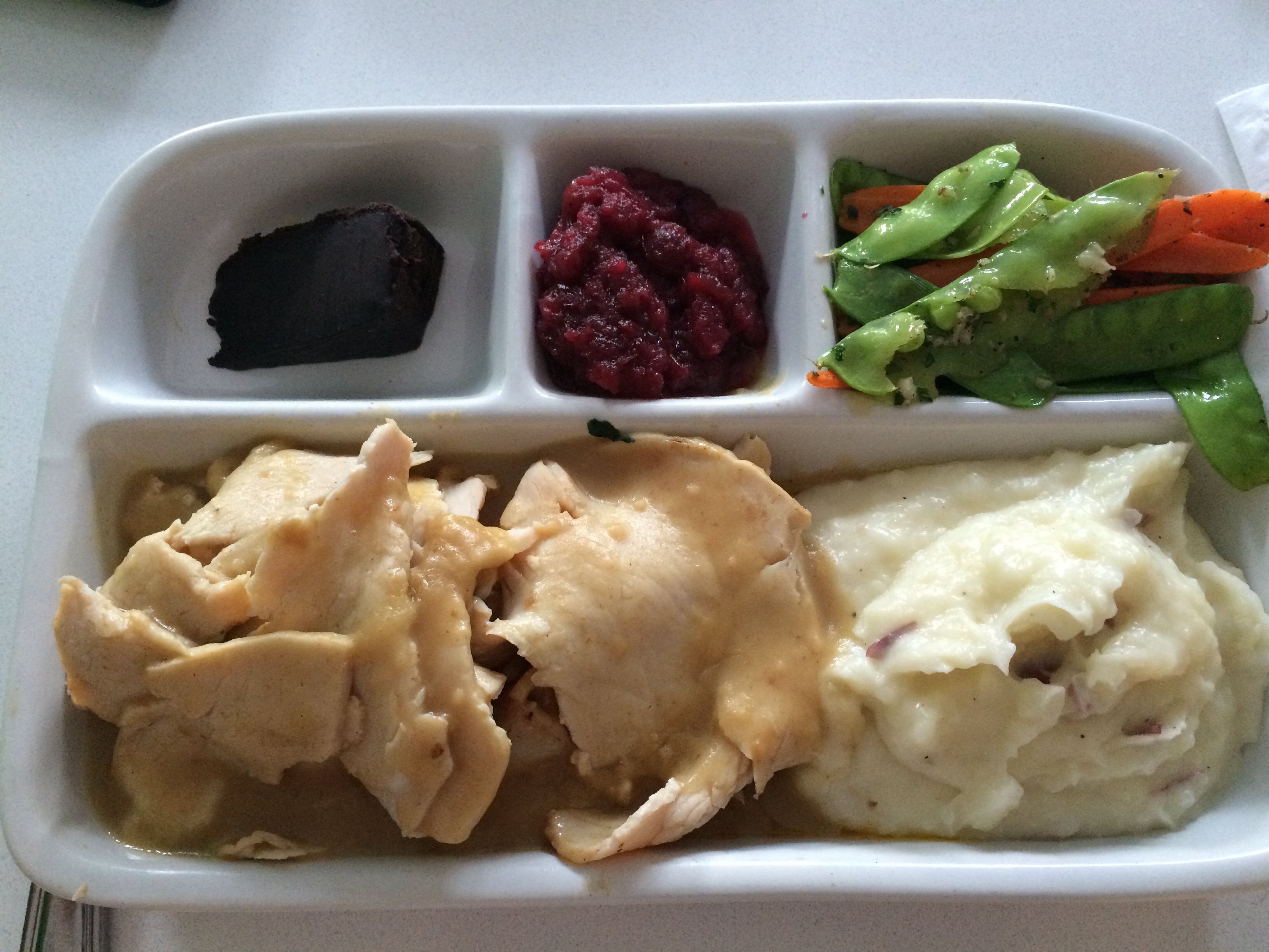 Turkey tv dinner.
